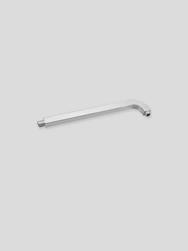 Shower head extension shower arm, fixed shower head shower arm